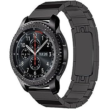 ldfas gear s3 band quick release stainless steel metal link bracelet 22mm watch. Black Bedroom Furniture Sets. Home Design Ideas