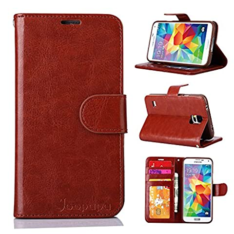 S5 Case, Galaxy S5 Case, Joopapa Galaxy S5 Luxury Fashion Pu Leather Magnet Wallet Flip Case Cover with Built-in Credit Card/ID Card Slots for Samsung Galaxy S5 / Galaxy Sv / Galaxy S5 I9600 (Flip Cover Cases For Galaxy S5)
