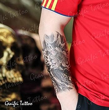 Zokey impermeable tatuaje temporal carpa classic perlas flor loto ...