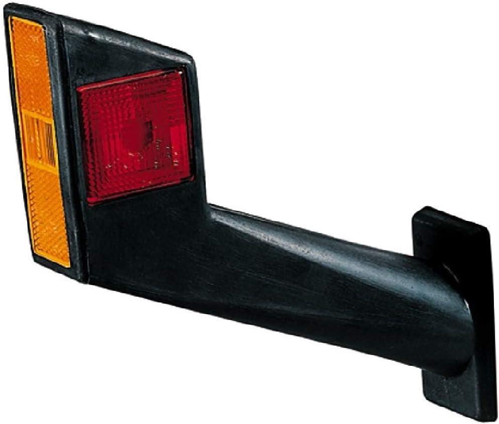 Hella 2xs 955 260 001 Umrissleuchte R5w Lichtscheibenfarbe Glasklar Rot Weiß Anbau Einbauort Seitlicher Anbau Auto