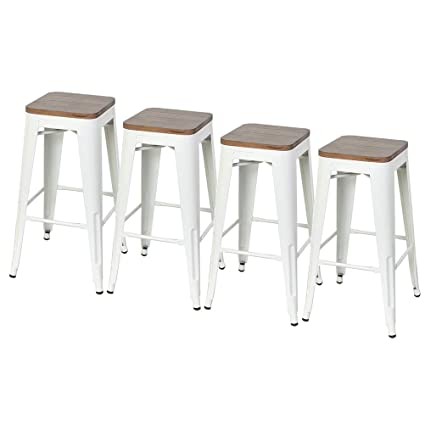 Super Dekea 30 Inch Bar Stools With Wooden Top Counter Height Metal Bar Stool Set Of 4 For Kitchen Or Indoor Outdoor Barstools White Uwap Interior Chair Design Uwaporg