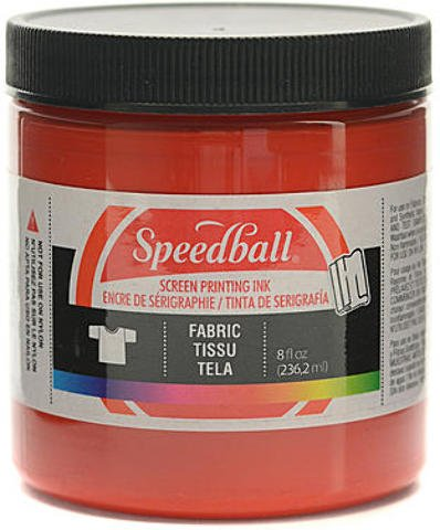 Speedball Fabric Screen Printing Ink (Red) - 8 oz. by Speedball