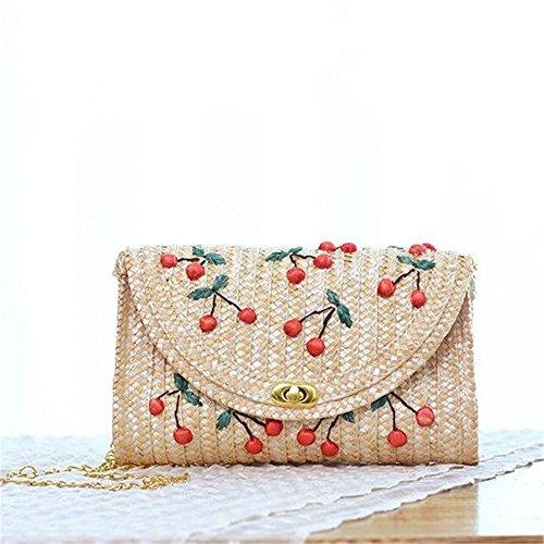 Meaeo Mujeres Calientes Del Verano Mini Straw Beach Tote Messenger Crossbody Shoulder Bag Cute Chain Mujeres Bolsos De Hombro