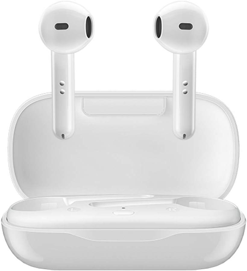 True Wireless Earbuds, Ultralight Bluetooth Headphones 24H Total Time Premium Deep Bass Wireless Earphones IPX5 Waterproof Touch Control TWS in-Ear Headphones HD Mic Headset USB-C Charge (White)