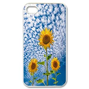 High Quality {YUXUAN-LARA CASE}Sunflowers in The Sun For Iphone 4 4SSTYLE-12