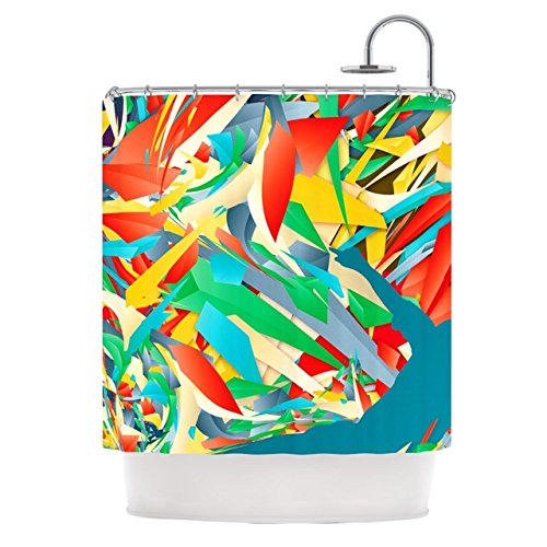 Kess InHouse Danny Ivan ''Soccer Slide'' Crazy Rainbow Shower Curtain, 69 by 70-Inch by Kess InHouse