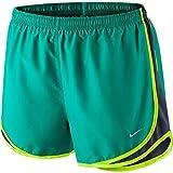 Nike Women's Tempo Short, Rio Teal/Obsidian/Volt/Wolf Grey XS X 3.5