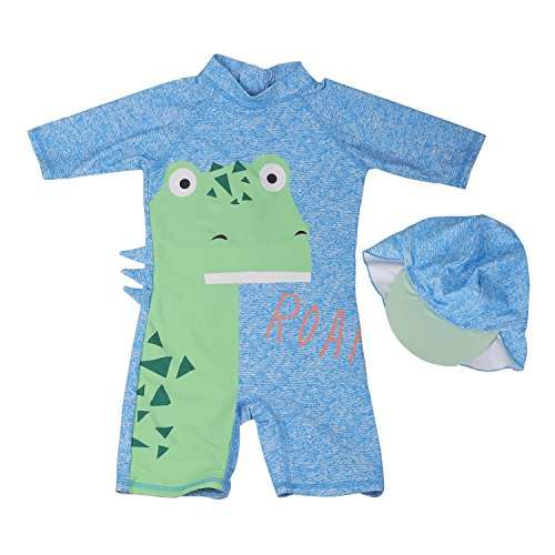 Kids/Baby Boys' One Piece Swimsuit with Swim Cap Sun Protective Sunsuit (Tag 4# (2-3 Years)) ()