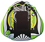 RhinoMaster Tough Seadragon 1-Person Inflatable Towable for Boating, Green/Black, 58 x 57