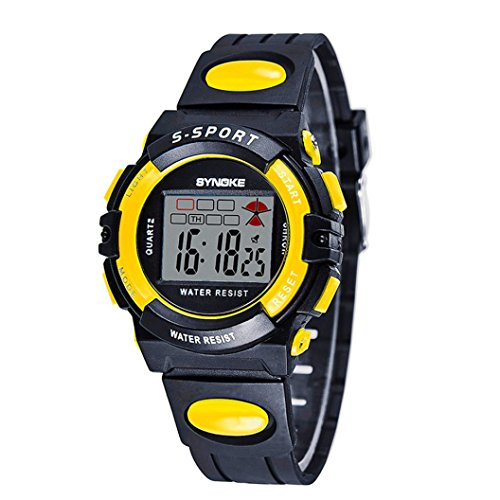 SYNOKE Waterproof Men's LED Digital Quartz Sports Watch (Red) - 1
