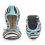Butterfly Twists Cleo White Zebra Aqua Ballet Flats (39 EU) offers