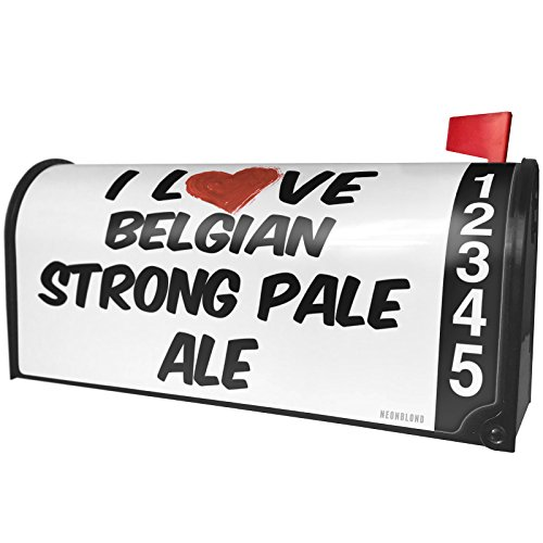 NEONBLOND I Love Belgian Strong Pale Ale Beer Magnetic Mailbox Cover Custom Numbers