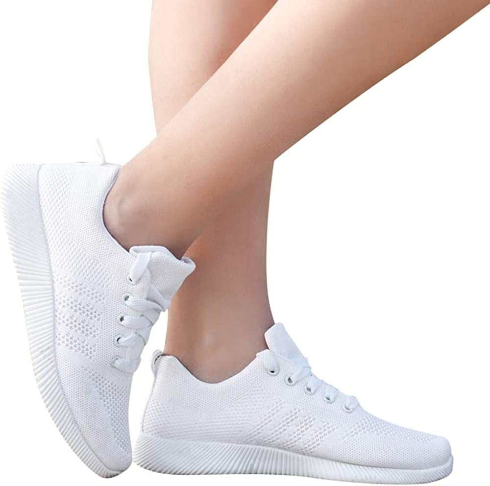 Womens Fashion Sneaker Miuye yuren Casual Flying Woven Walking Shoes Student Jogging Tennis Sneakers