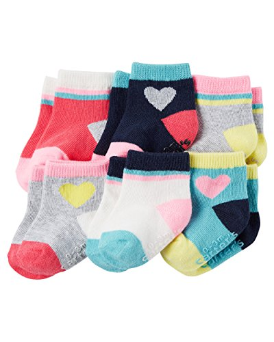 Carter's Baby-Girls Socks, Hearts, 12-24 Months (Pack of 6)