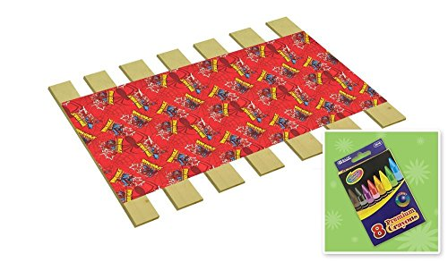 Custom Made in the U.S.A.! Youth/Toddler Size Spiderman Comic Book Hero Themed Bed Slats Bunky Boards - Cut to the Width of Your Choice (26.25'' Wide) - FREE box of Crayons with Purchase by The Furniture Cove