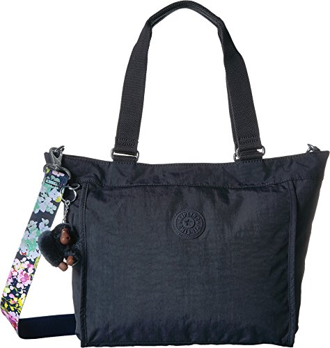 New Shopper Tote - Kipling New Shopper Small Solid Tote with a Floral Printed Strap, True Blue