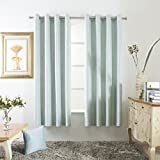Mayding Home Blackout Decorative Eyelet Curtains (50X63inch, Aqua) For Sale