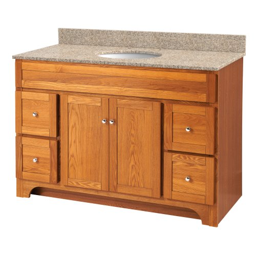 Foremost WROA4821D Worthington 48-Inch Bathroom Vanity, Oak - Foremost Oak Vanity