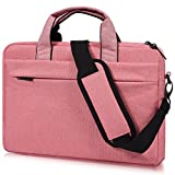 17-17.3 Inch Laptop Shoulder Bag, CASEBUY Waterproof Shockproof Laptop Case for HP ENVY 17 17t, Acer Predator 17, Lenovo Ideapad Y700, 17.3 inch Laptop Bag for Teenage Girls Women, Rose Quartz