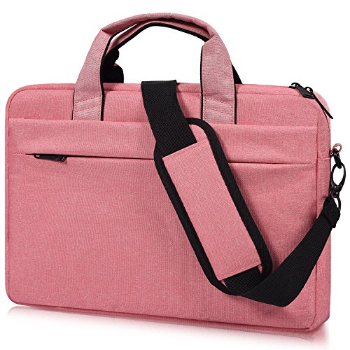 Age Bag - 17-17.3 Inch Laptop Shoulder Bag, CASEBUY Waterproof Shockproof Laptop Case for HP ENVY 17 17t, Acer Predator 17, Lenovo Ideapad Y700, 17.3 inch Laptop Bag for Teenage Girls Women, Rose Quartz