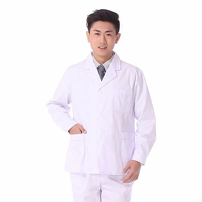 Xuanku El Doctor Doctor Xiaogua Macho Verano Manga Corta Bata Blanca Escudo del Doctor Bata Split, XXXL, Manga Larga Blanca: Amazon.es: Ropa y accesorios