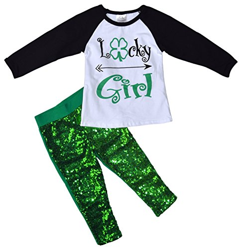 Patrick's Day Lucky Girl Outfit (6/XL) (Child Outfit)