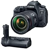 Canon EOS 6D Mark II DSLR with EF 24-105mm f/4L IS II USM Lens - With Canon BG-E21 Battery Grip