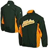 Oakland Athletics Youth Green Yellow Double Climate Full Zip Jacket