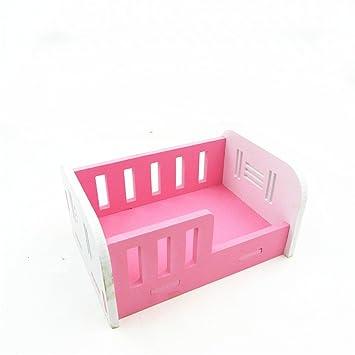 Pet Online Hamster cama de Madera Cute pequeño animal Nest Hamster accesorios de habitación, rosa: Amazon.es: Productos para mascotas