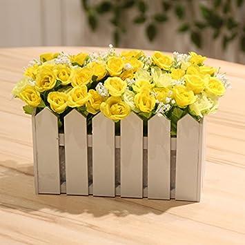 Emulation Blume Rose Holz Zaun Mit Blumen Kit Wohnzimmer