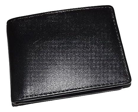 31b72431c240 Roundtree & Yorke Men's Leather RFID Shield Bifold Traveler ID Wallet Black