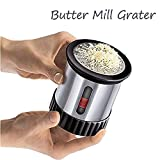 Butter Mill Grater, Shredded Butter Spreads/Melts More Easily - Children Feeding Butter Cutter Smooth Spreadable Bread Veggies Corn Grater Cheese Slicer