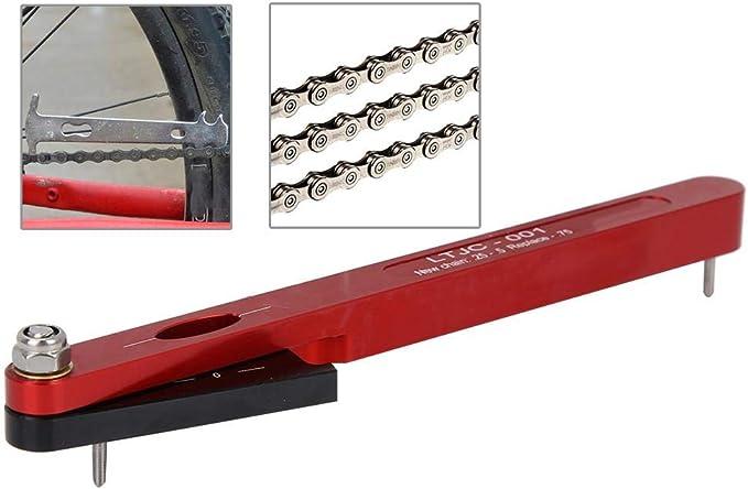 Tbest Medidor de Cadena de la Bicicleta, Herramienta para Medir el ...