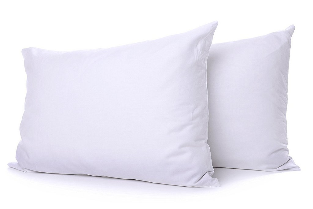 Splendid Collection ! Back to School Collection ! Standard Size Pillow for Dorm Bed Solid White - 1800 Series Brushed Microfiber