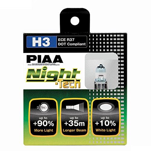 PIAA 10703 H3 Night Tech High Performance Halogen Bulb, (Pack of - Spec Tech