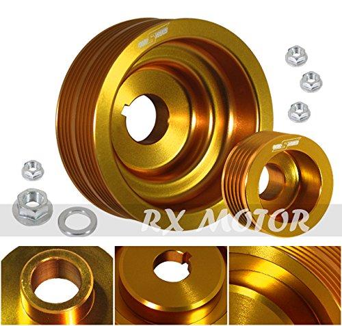 Rxmotor Impreza WRX 7 8 9 2.0l Turbo Engine JDM Underdrive Crank Alternator Pulley Kit ()