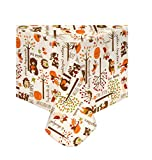 Harvest Vinyl Tablecloth PEVA Flannel Backed, Woodland Animal Thanksgiving Print, 60 x 84 Oblong/Oval