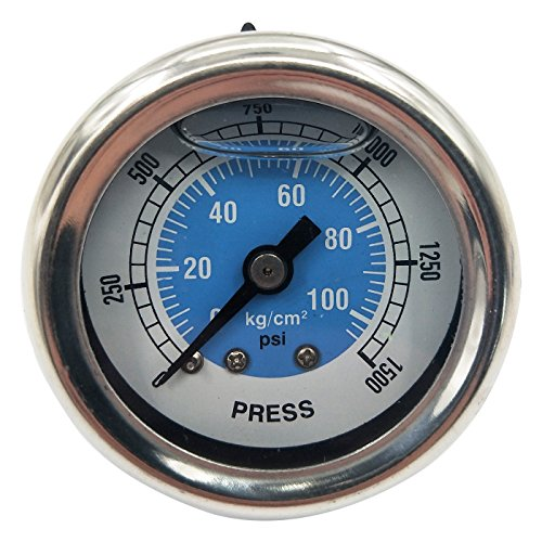 Dracary Nitrous Pressure Gauge Work for NOS OR NX (Blue) ()