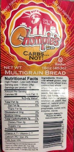 Chompies Low Carb Multigrain Bread 2 ()
