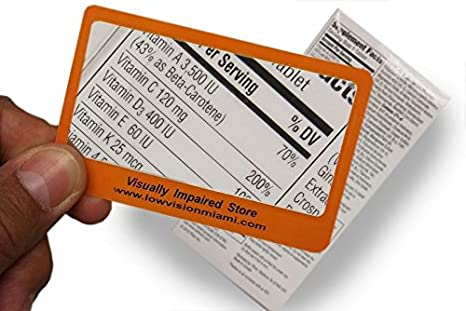 Amazon.com: 3 Pack- tarjeta de Fresnel lupa de bolsillo ...