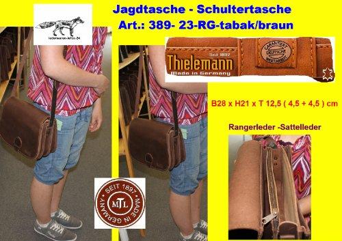 Caccia tasche th389–�?3RG Tabacco 3scomparti Ranger in pelle Thielemann Original