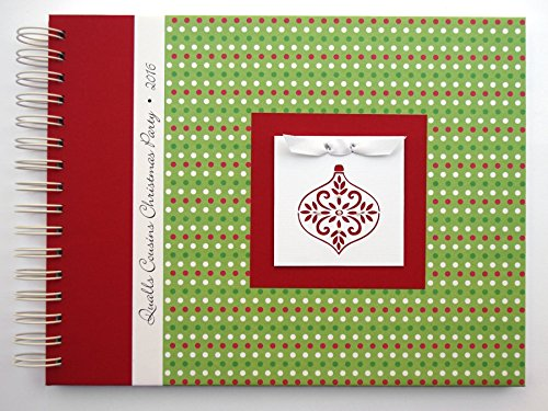 Christmas Photo Album | Christmas Dots with Ornament | Choose Your Charm and Cover | Full-Size Photo Book