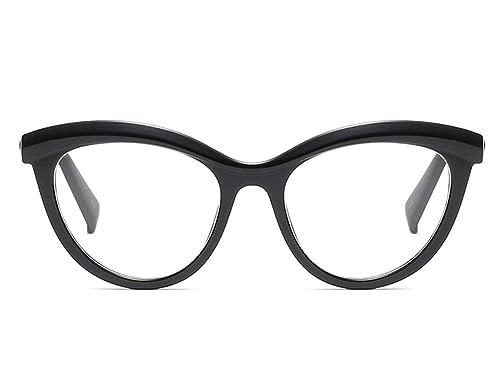 28e78784ed Bmeigo Monturas de Gafas Marco Oval Lente Clara Lentes vidrios Lentes Mujer