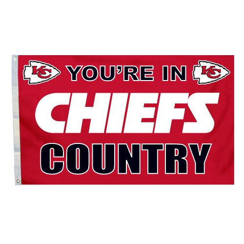 NFL Kansas City Chiefs In Country Flag with Grommets, 3 x 5-