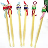 YOYOSTORE 20 Pcs Mix Cute Doll Bamboo Earpick Ear
