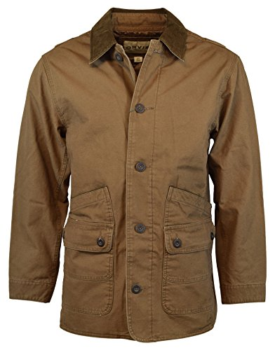 Orvis Men's Corduroy Collar Cotton Barn Jacket (Tobacco) (Large, Tobacco)