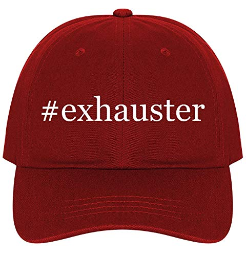 #Exhauster - A Nice Comfortable Adjustable Hashtag Dad Hat Cap, Red, One Size