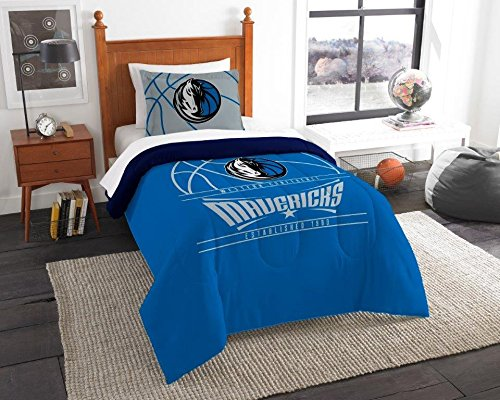 Dallas Mavericks - 2 Piece Twin Size Printed Comforter Set - Entire Set Includes: 1 Twin Comforter (64