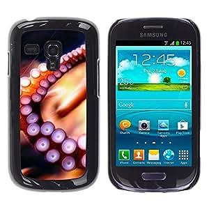 Be Good Phone Accessory // Dura Cáscara cubierta Protectora Caso Carcasa Funda de Protección para Samsung Galaxy S3 MINI NOT REGULAR! I8190 I8190N // Octopus Tentacle