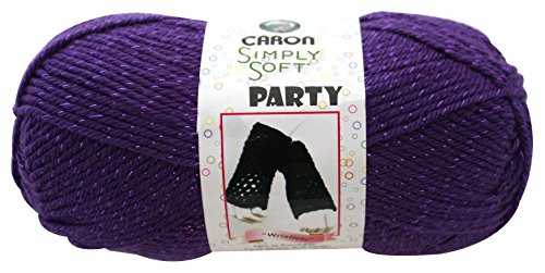 Caron  Simply Soft Party Yarn - (4) Medium Worsted Gauge  - 3 oz -  Purple  -   For Crochet, Knitting & Crafting